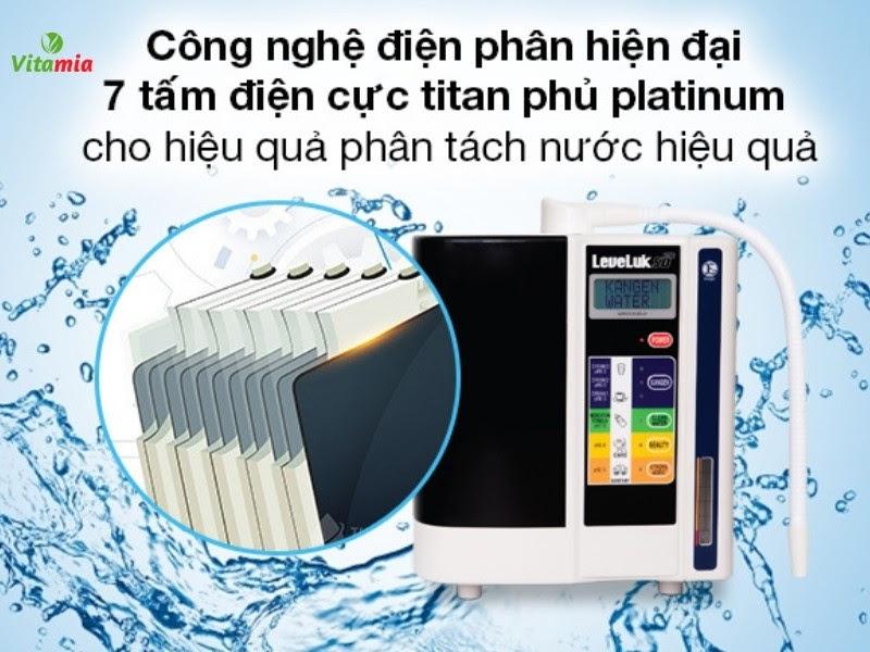 Tấm điện cực titan phủ Platinum trên các dòng máy Kangen mang đến chất lượng nước ion vượt trội